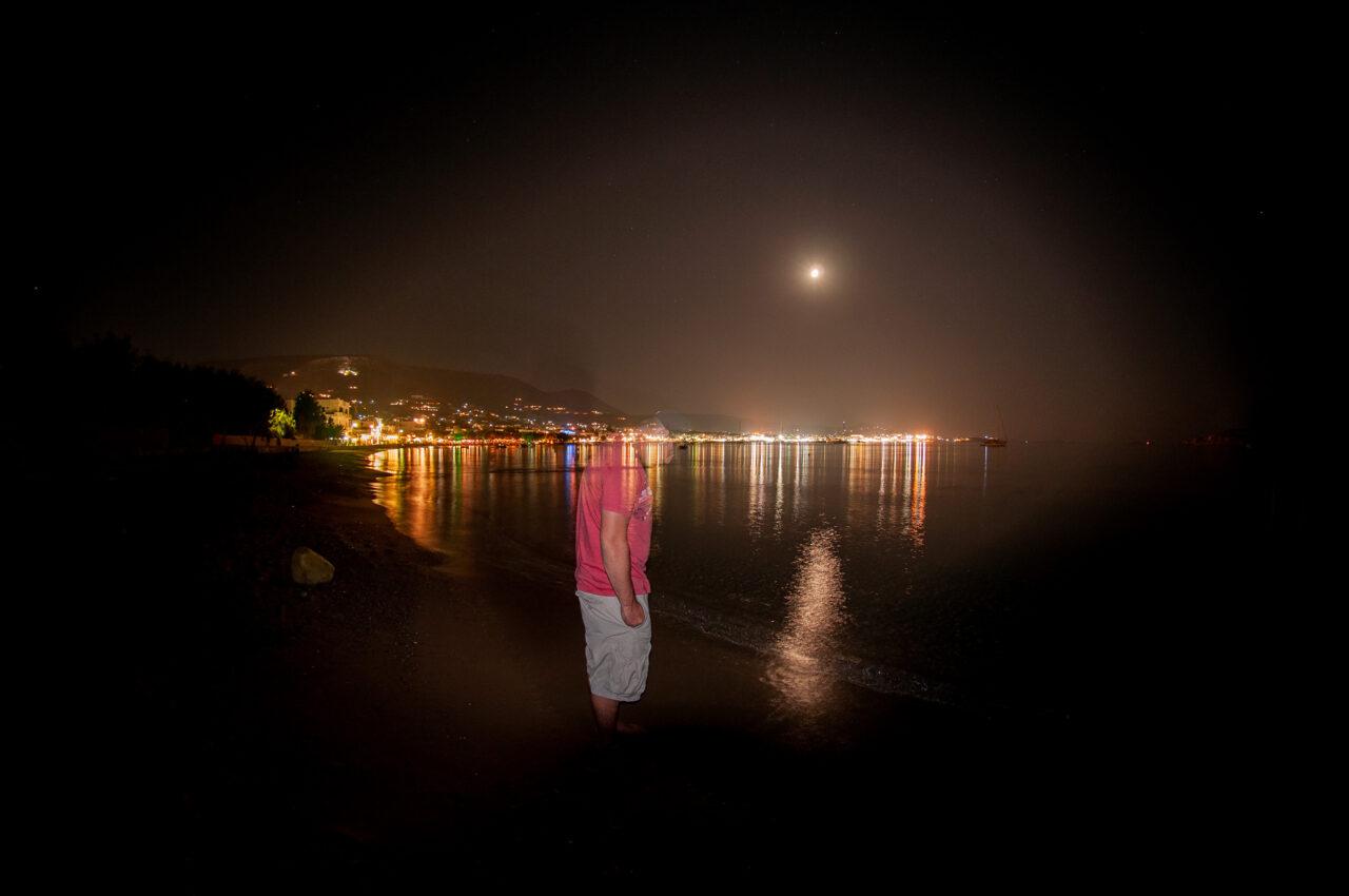 Beach night Santorini