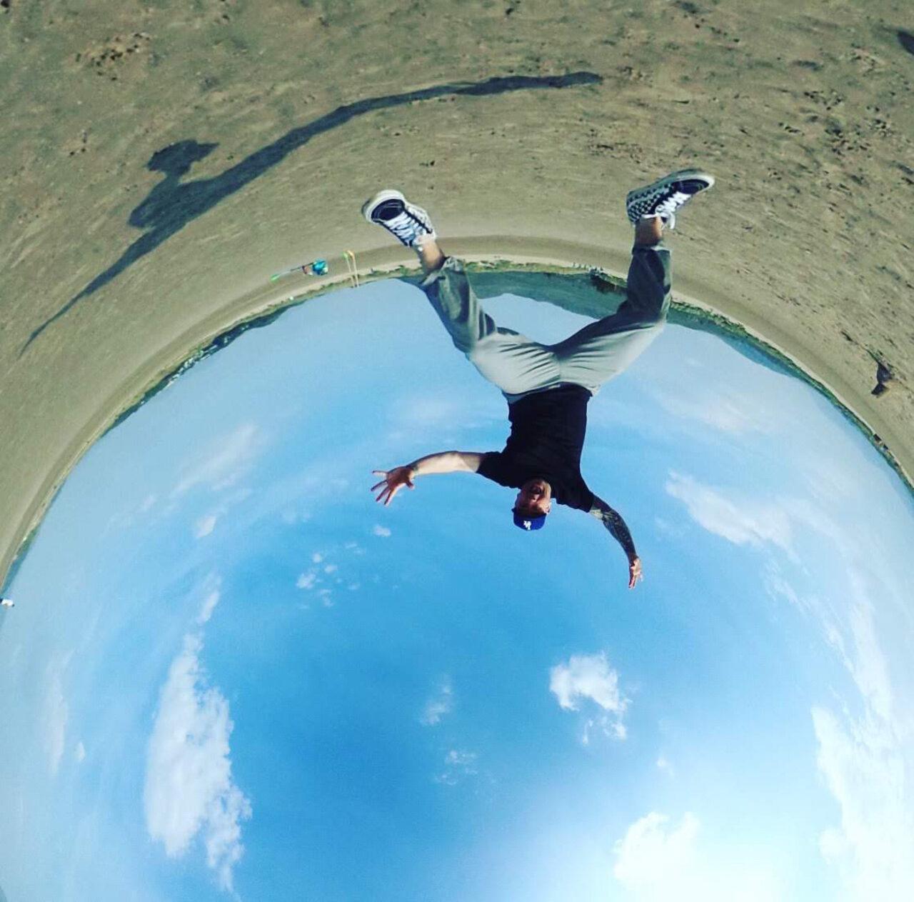 Welsh 360 jump beach