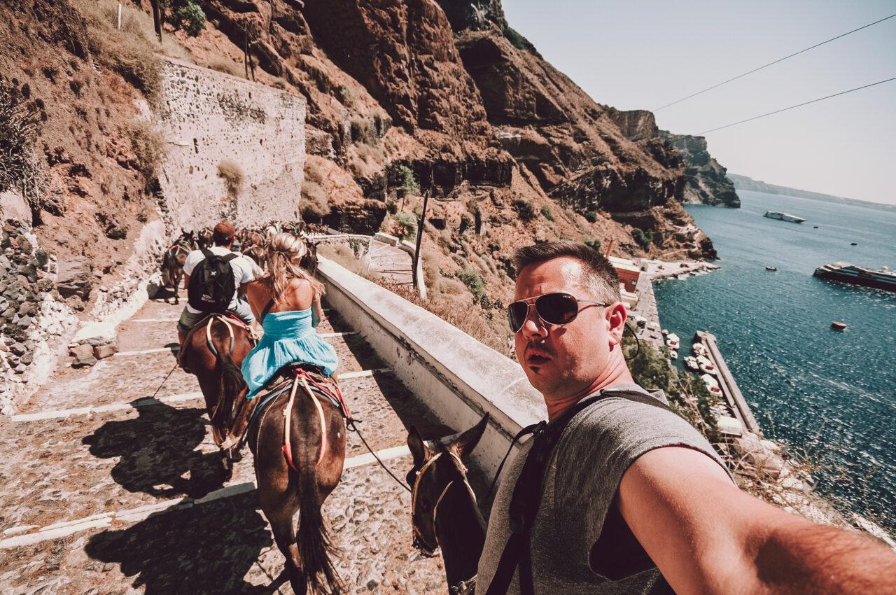 Donkey Selfie Oai Santorini