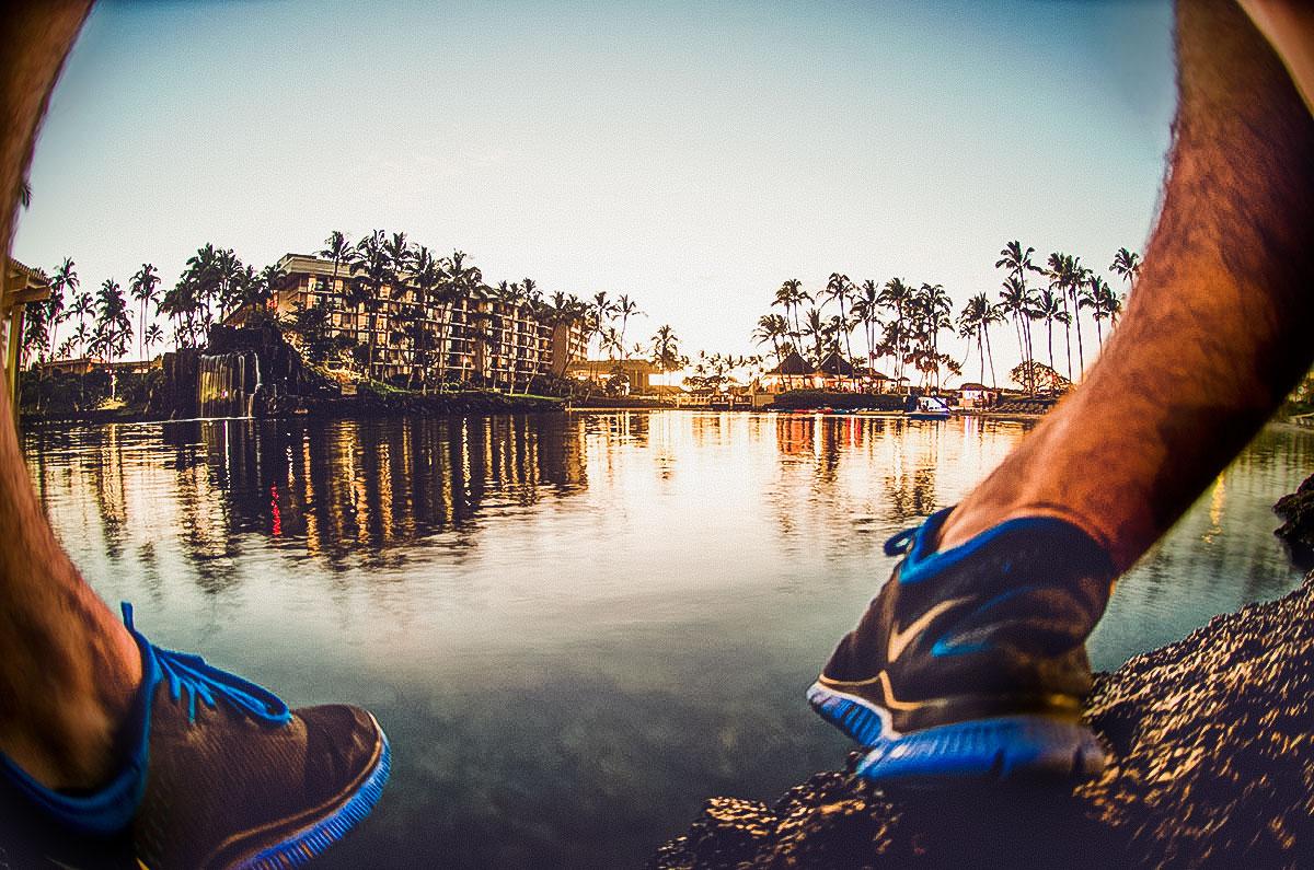 Hawaii resort sunset