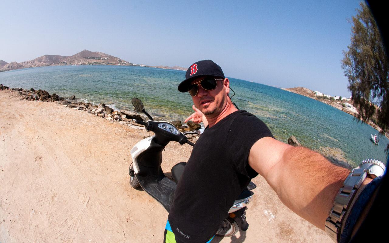 Santorini moped